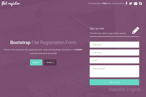 Bootstrap Registration Form Template Free Bootstrap 2018