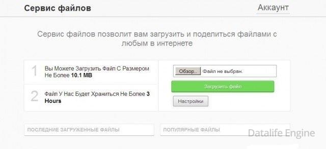 Файловый хостинг скрипт хостинг с cname