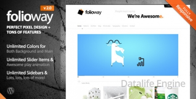 Folioway v3.0 — Premium Portfolio WordPress шаблон