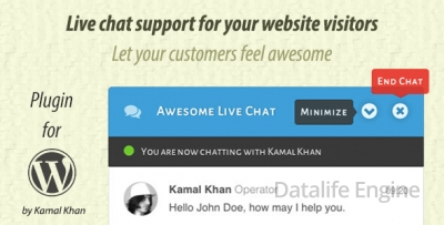 Awesome Live Chat v1.4.0 - чат для WordPress