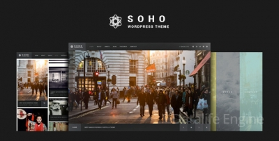 SOHO v2.2 — фото & видео WordPress шаблон