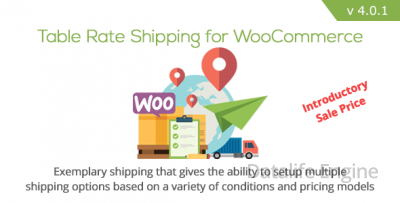 Плагин wordpress Table Rate Shipping v4.0.3 - таблица доставки для WooCommerce