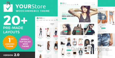 YourStore v2.0 — Woocommerce WordPress шаблон