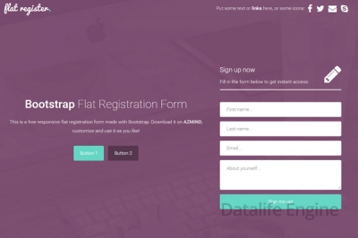 bootstrap-flat-registration-forms