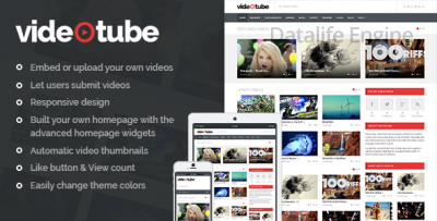 VideoTube v2.3 - видео шаблон для WordPress