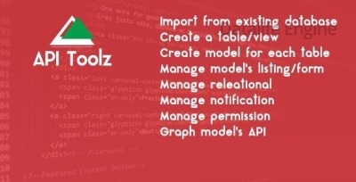 API Toolz v1.0 - PHP Laravel v5.4 Backend + API GUI Tools